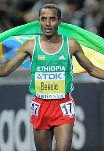 Oromo distance running champion Kenenisa Bekele.