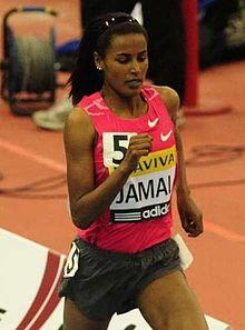 Oromo track and field athlete Maryam Yusuf Jamal.