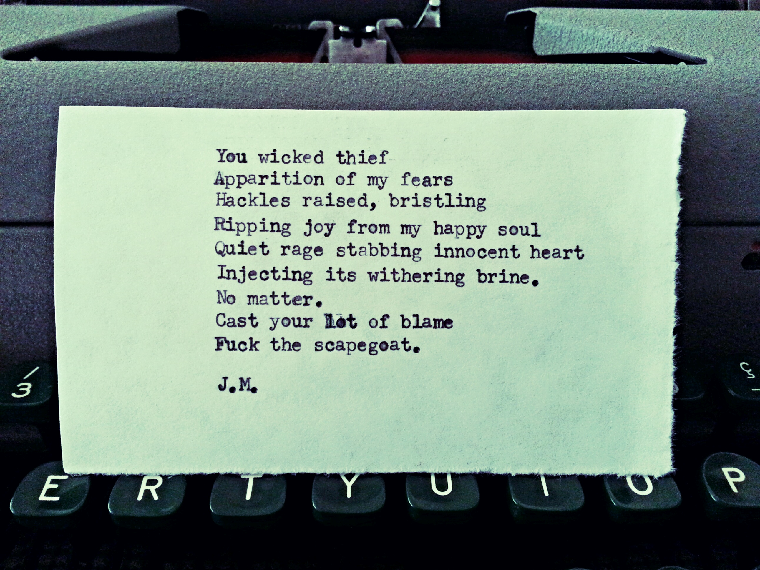 Scapegoat (a poem)