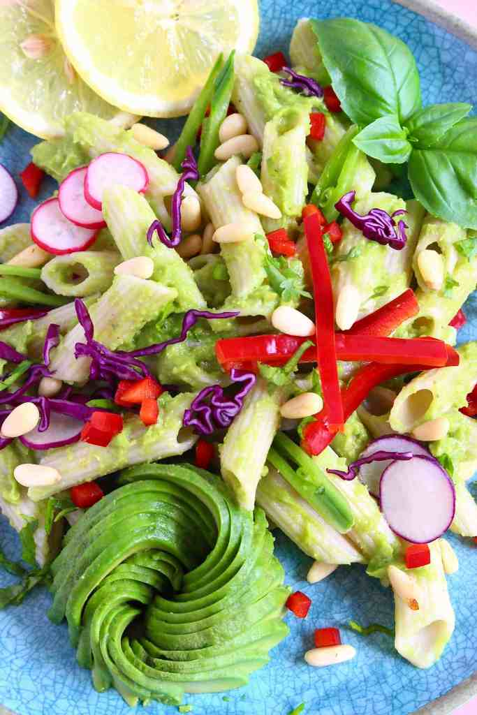 Avocado Pesto Without A Blender (Vegan + GF)