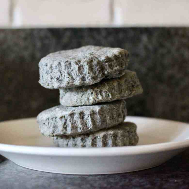 Vegan Black Sesame Shortbread