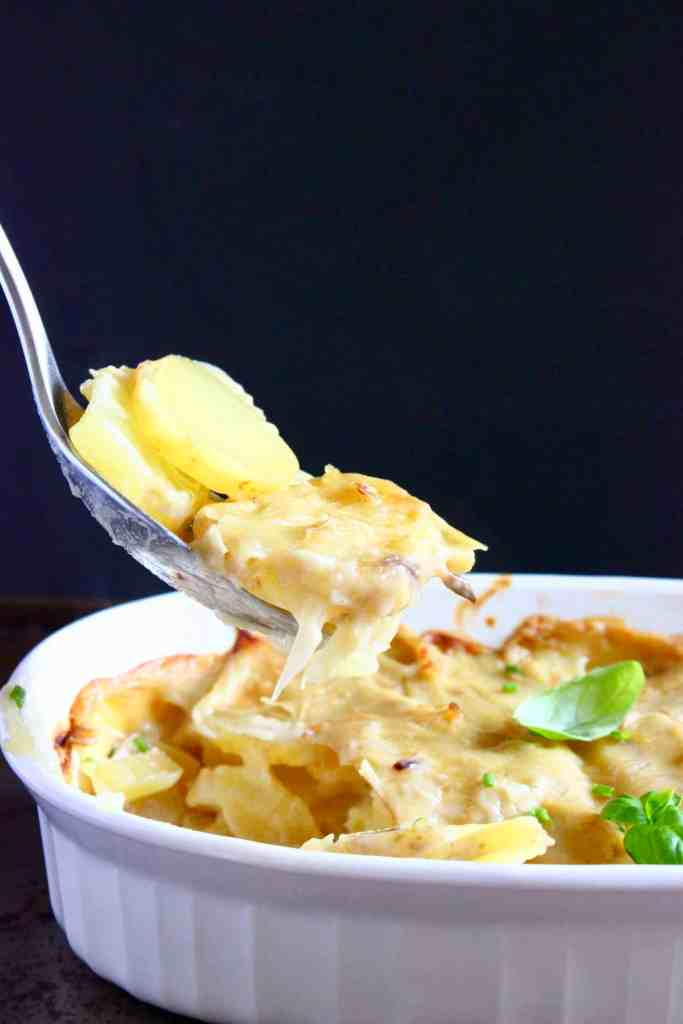 Vegan Potato Dauphinoise Gratin (GF)