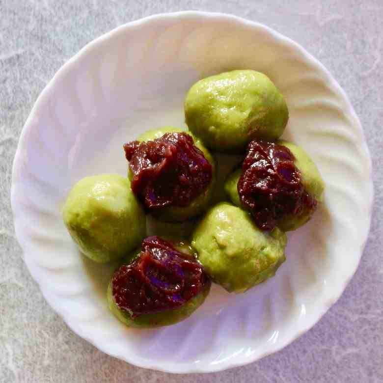 Matcha Sweet Potato Mochi (Vegan + GF)