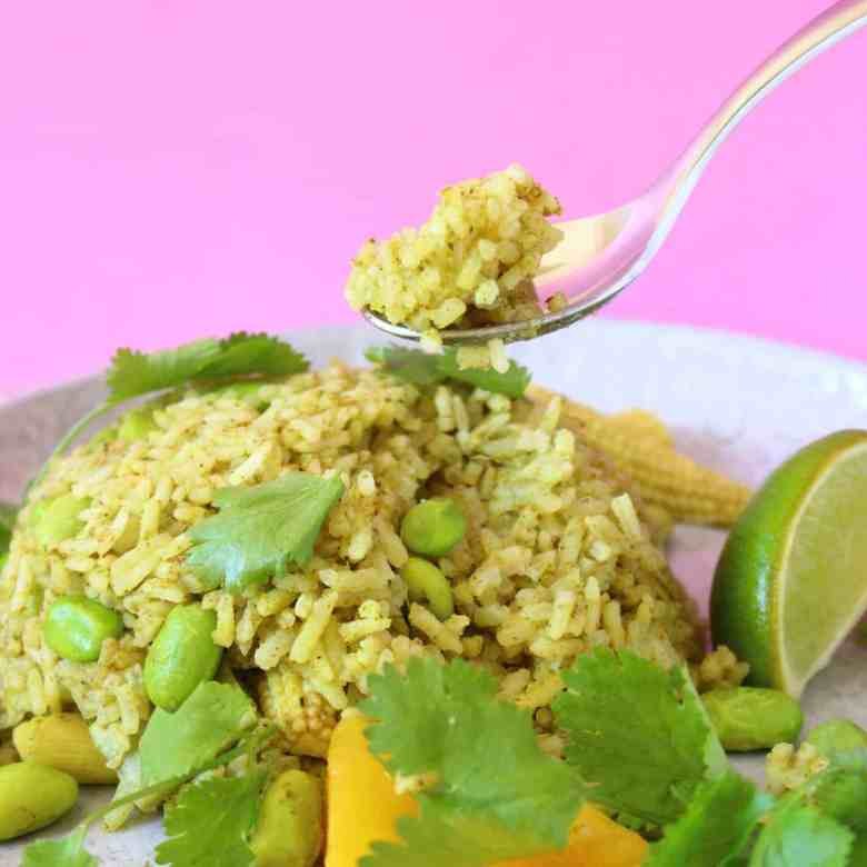 Thai Green Curry Rice (Vegan + GF)