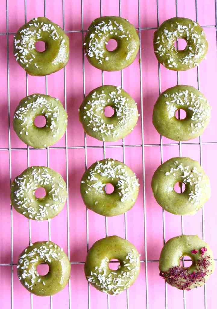 Vegan Matcha Baked Donuts (GF)