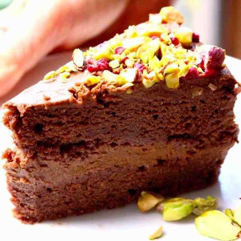 Gluten-Free Vegan Chocolate Sponge Layer Cake
