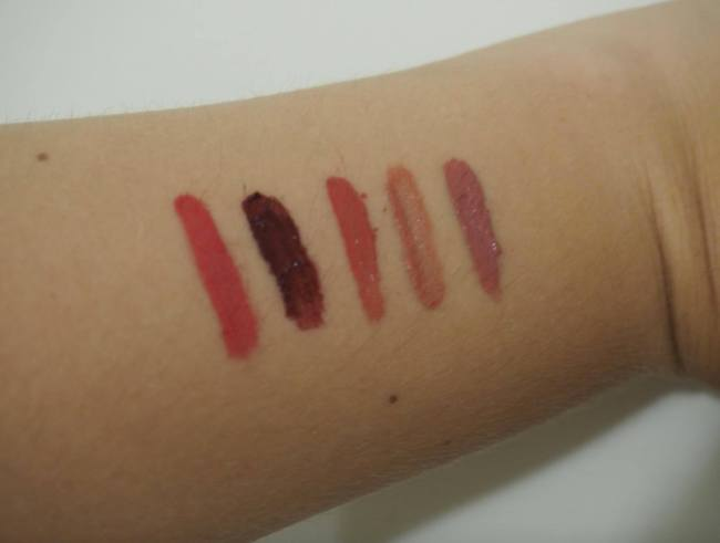 Liquid Lipstick Swatches 2