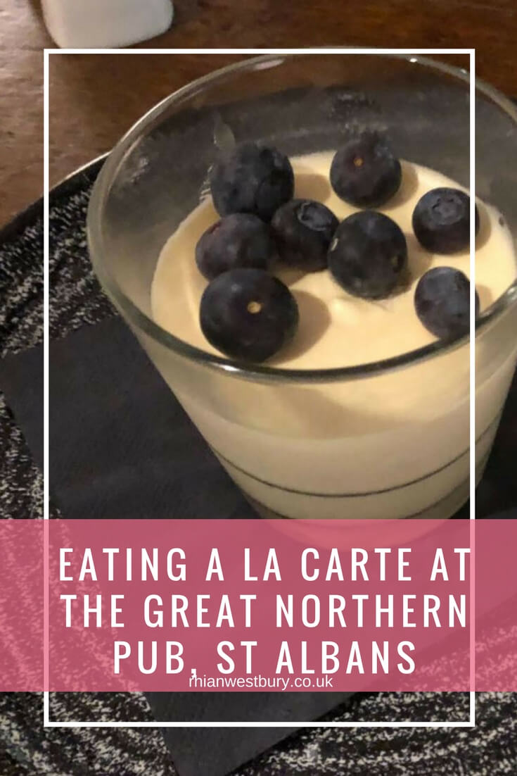 Eating A La Carte At The Great Northern Pub, St Albans