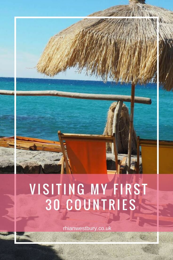 Visiting my first 30 countries
