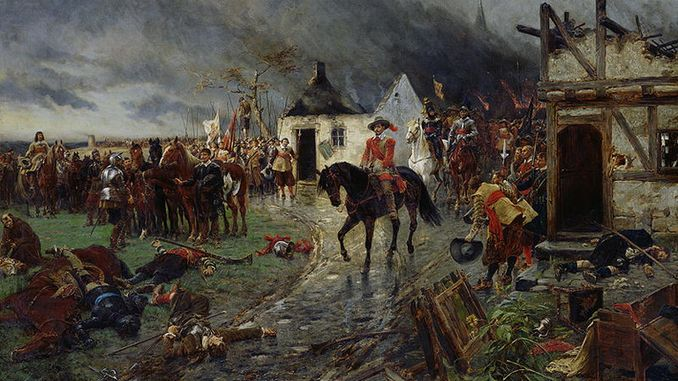 Wallenstein and his troops
