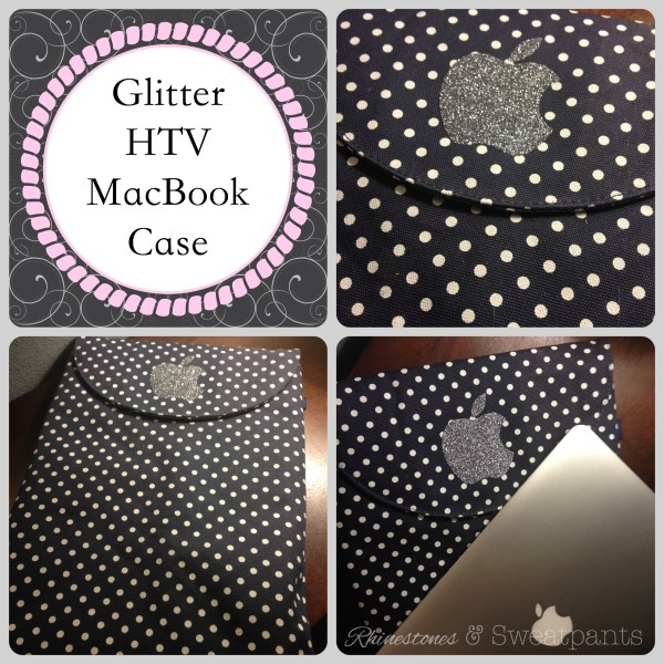 Glitter HTV MacBook Case