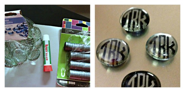 Monogrammed Bubble Magnets