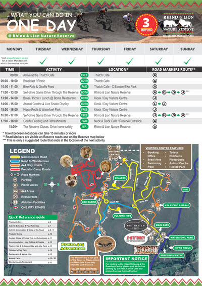 Planning My Day - What you can do in one day at Rhino & Lion Nature Reserve - Option 3