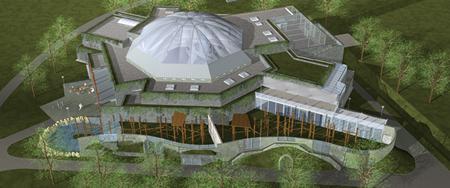 Grüne Pyramide, das neue Asien-Haus, Eröffnung 2010 (Foto: Sóstó Zoo)
