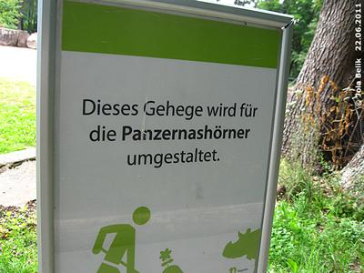 Infotafel, Tiergarten Nürnberg, 22. Juni2011