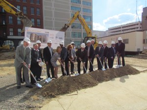 Breaking ground at 810 Arch Street.