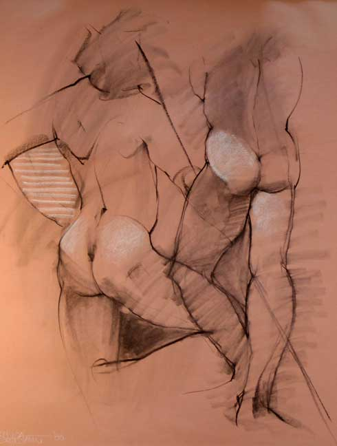 Male Nude On Pink Paper