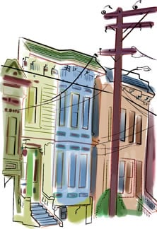 House Portrait whimsical style painting