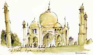 India Sketch: Taj Mahal