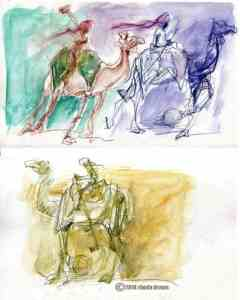 India Sketches: Camel Polo In Rajasthan