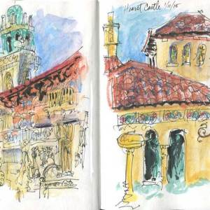 Hearst Castle Sketches