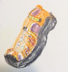 Anne-rainbow shoe