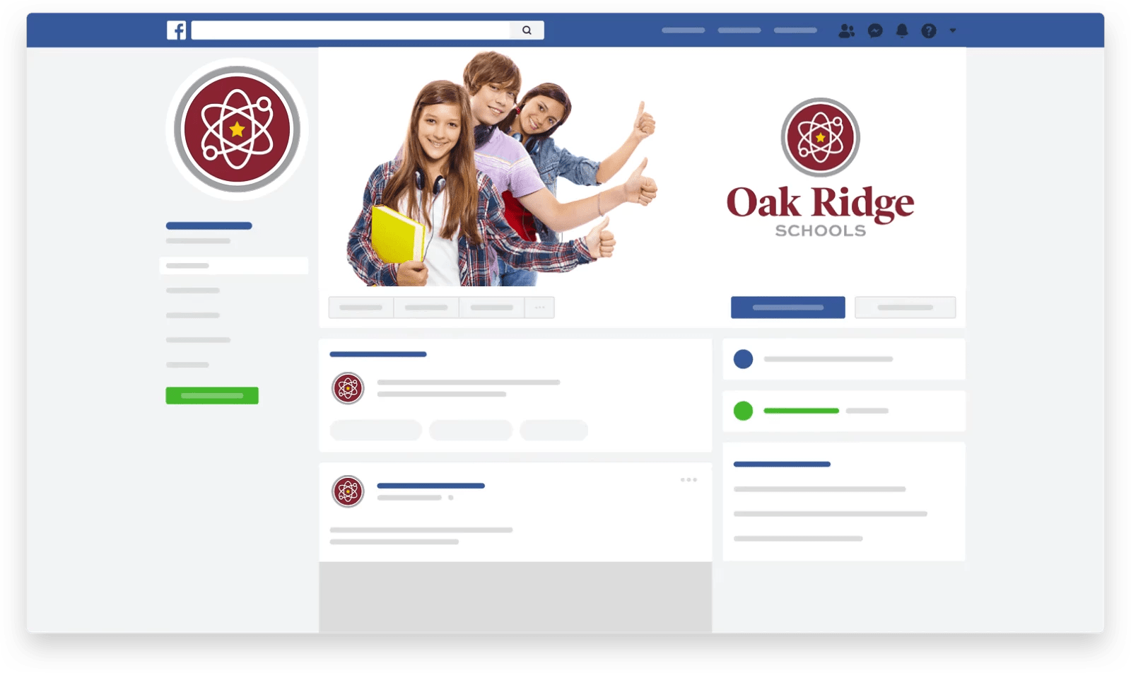 Oak Ridge Schools Facebook page mockup