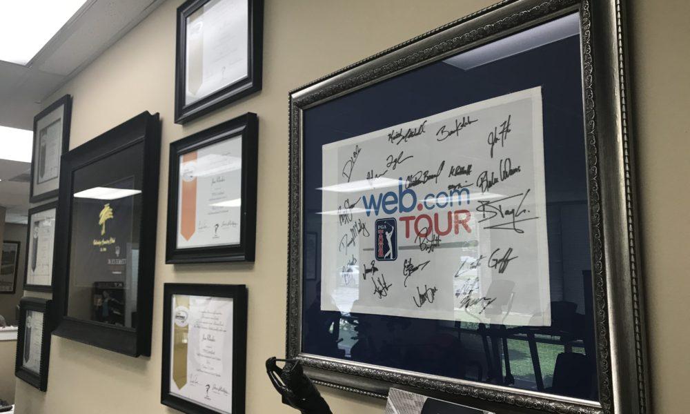 Signed Web.com Tour Flag