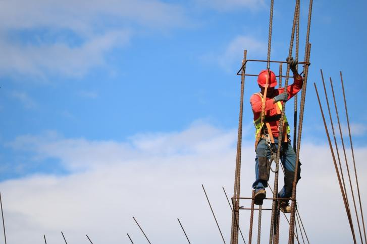 Construction Worker Balancing on Rebar | RhodesPT.net