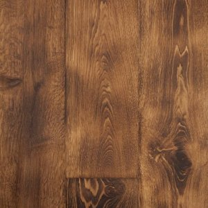rustic stained hardwood floor example
