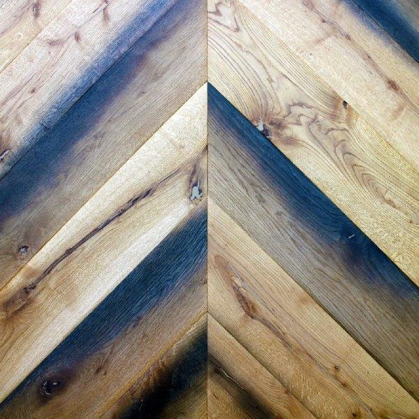 chevron hardwood floor example