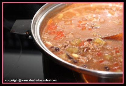 Rhubarb Chili - Best Chili Recipe - a Different Chili