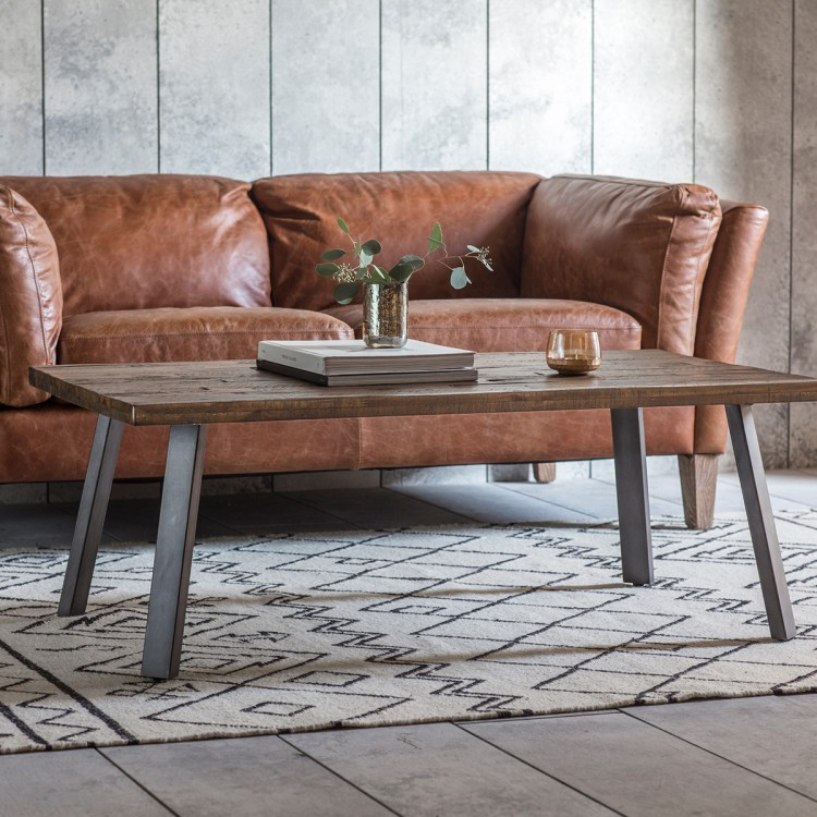 brixton rustic coffee table free delivery