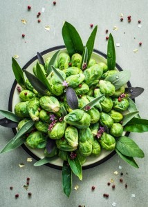 Brussels Sprouts - Sicilian-Style Pizza with Roasted Brussels Sprouts and Banana Peppers