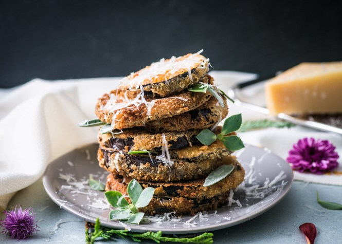 Crispy Eggplant - Eggplant Parm Grilled Cheese Sandwich