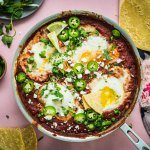 Chipotle Baked Eggs with Black Beans