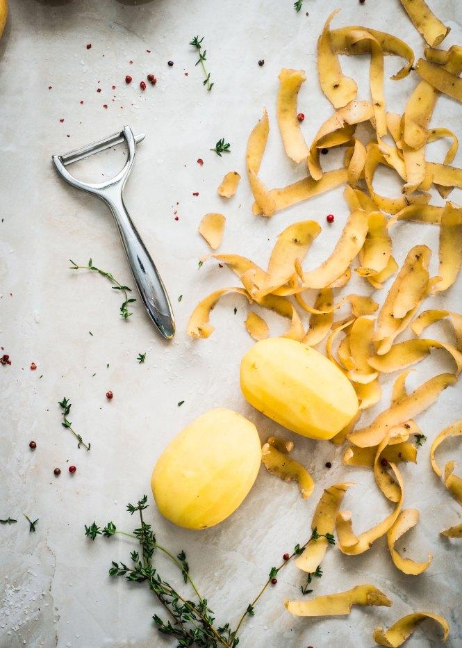 EarthFresh Yellow Potatoes - Aged Cheddar Potato Soup with Sautéed Apples
