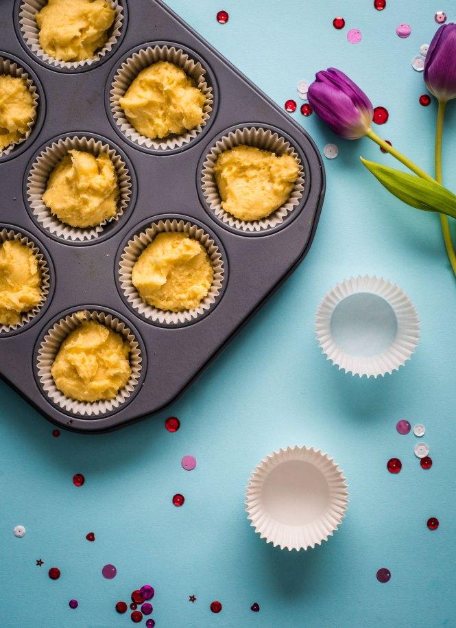 Uncooked Victoria Sponge Cupcakes - Victoria Sponge Cupcakes with Strawberry Preserves