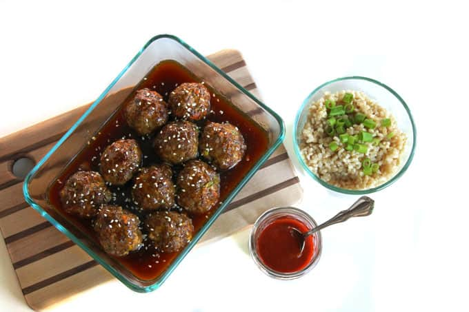 Awesome teriyaki meatballs! Delicious recipe for homemade beef teriyaki meatballs and a homemade teriyaki sauce. So good!