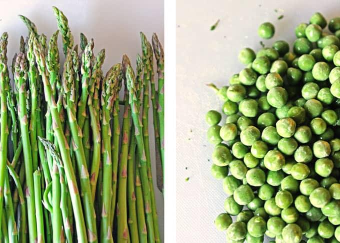 asparagus and peas