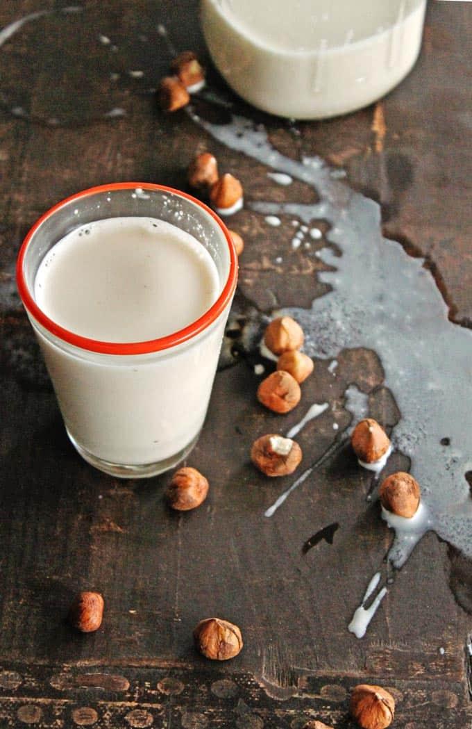 Vanilla cardamom hazelnut milk