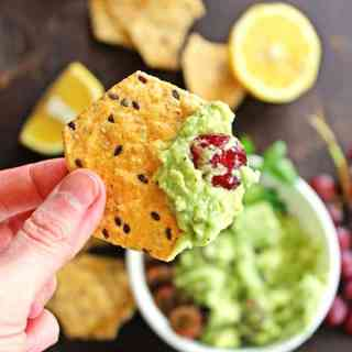 Feta and grape guacamole