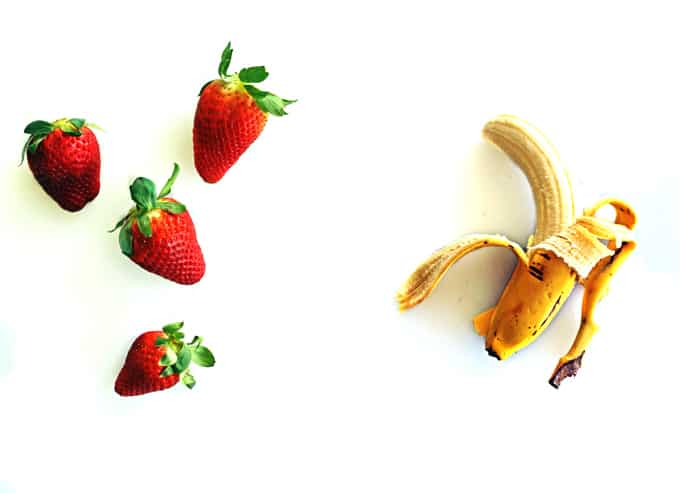 Strawberry banana buttermilk smoothie
