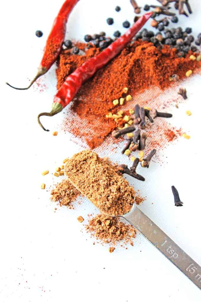 Homemade berbere, an Ethiopian spice blend from Global Feasts Ethiopia!