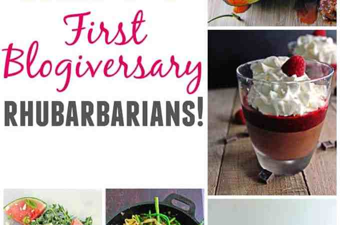 Happy first blogiversary Rhubarbarians!