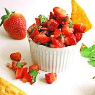 Strawberry jalapeno pico de gallo