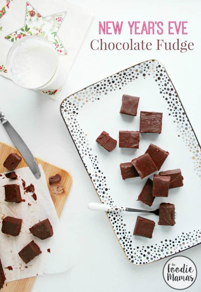 Creamy chocolate fudge + 10 amazing holiday dessert recipes! Amazing holiday dessert recipes from your favorite food bloggers, The Foodie Mamas!