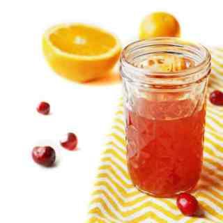 Cranberry orange infused bourbon