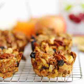 stuffing muffins on a cooling rack