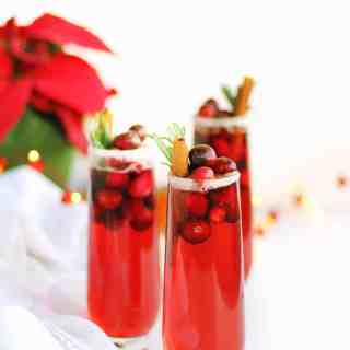 cranberry mimosa mocktail or cocktail